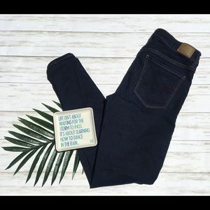 AE Dark Wash Super Stretch Jegging Jeans 6 Medium